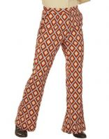 70's Groovy Flared Trousers Rhombus (09268)